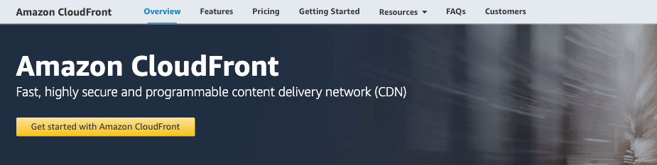 Amazon CloudFront CDN product page