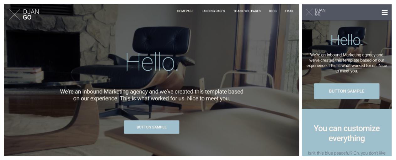 django responsive web design template