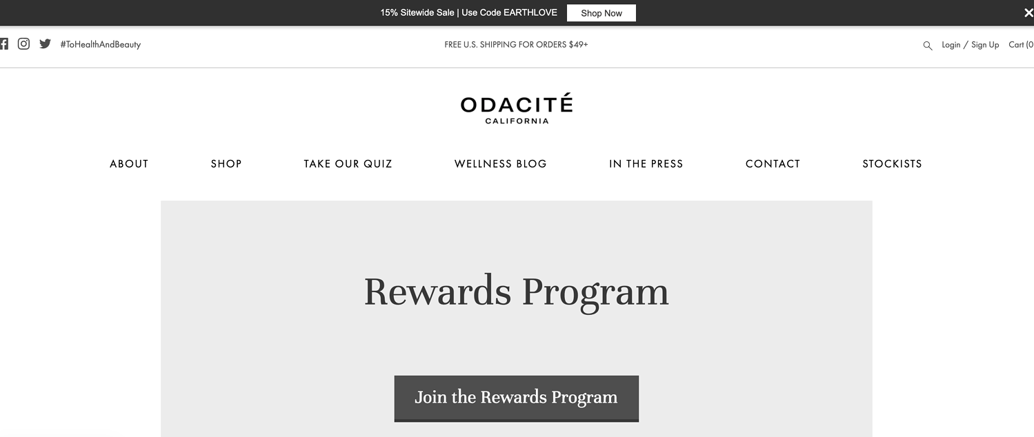 odacite rewards programs
