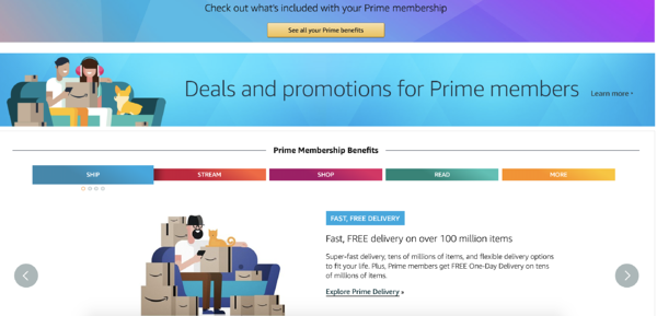 amazon prime rewards program