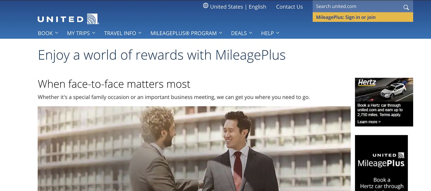 united mileage plus program
