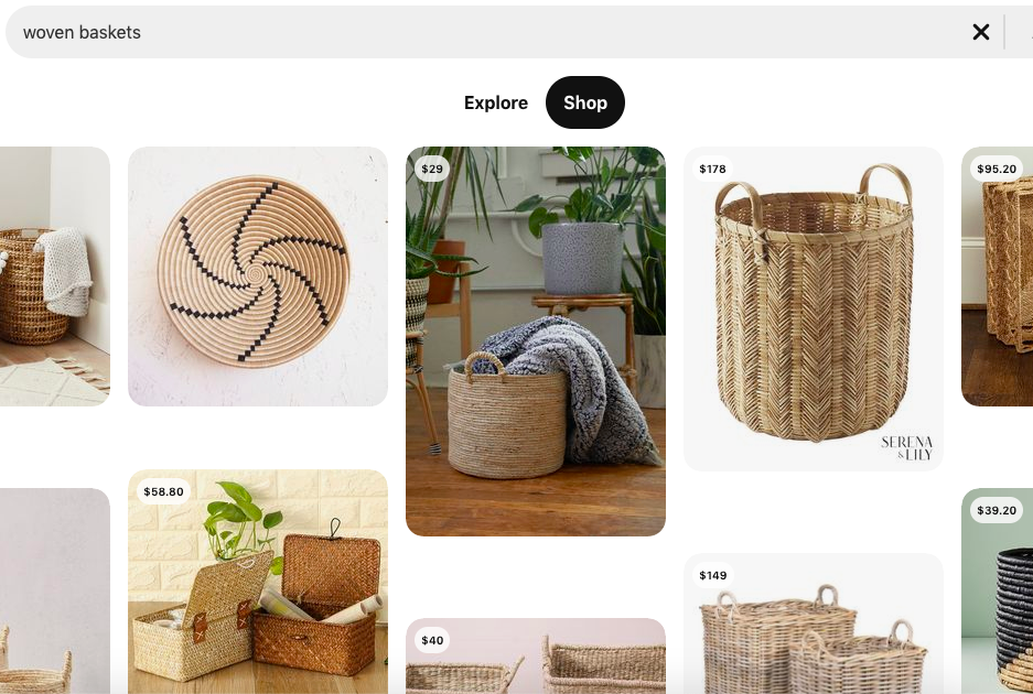 Pinterest discover page