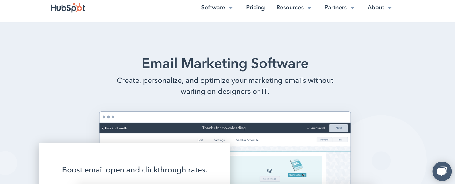 hubspot email marketing software