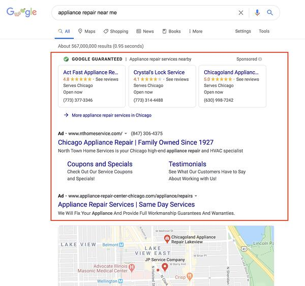 google ppc examples paid advertising