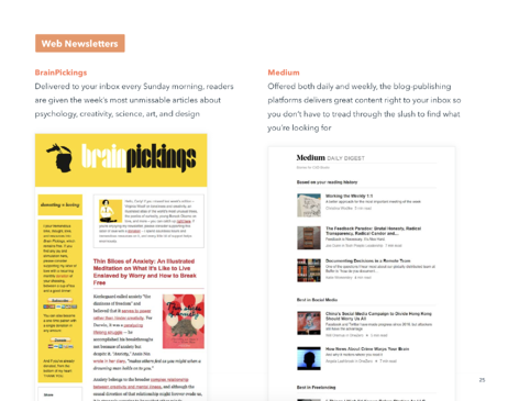 email newsletter examples lookbook