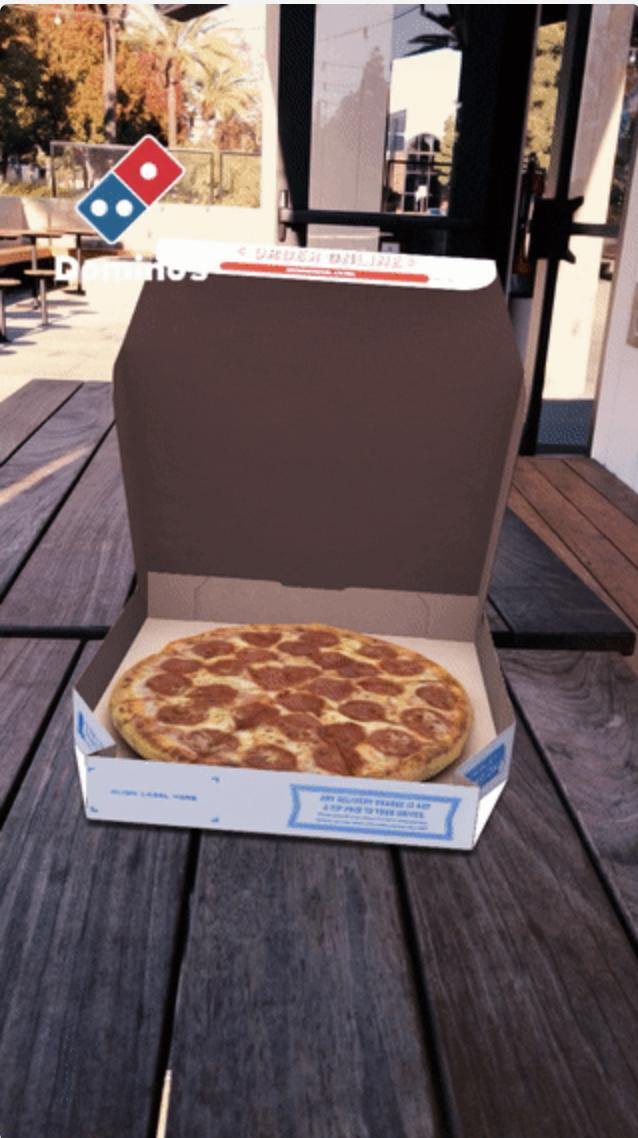 snapchat dominos advertising example