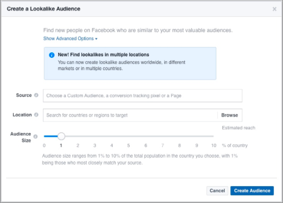 How to create a lookalike audience in Facebook