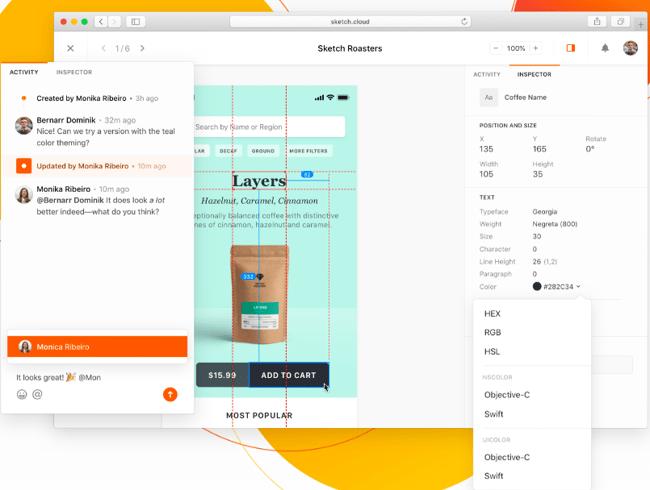带有评论的免费网页设计工具草图编辑器