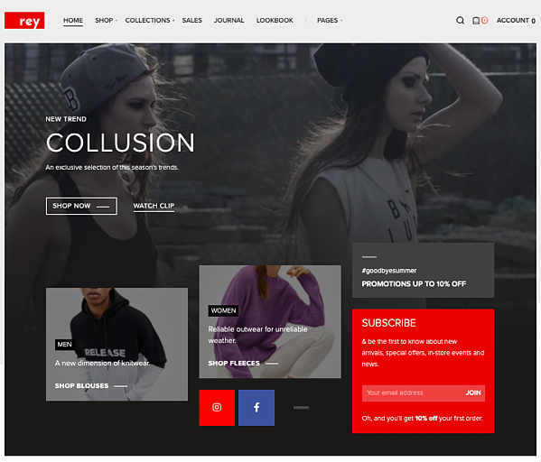 London demo of one of the best parallax WordPress themes, Rey