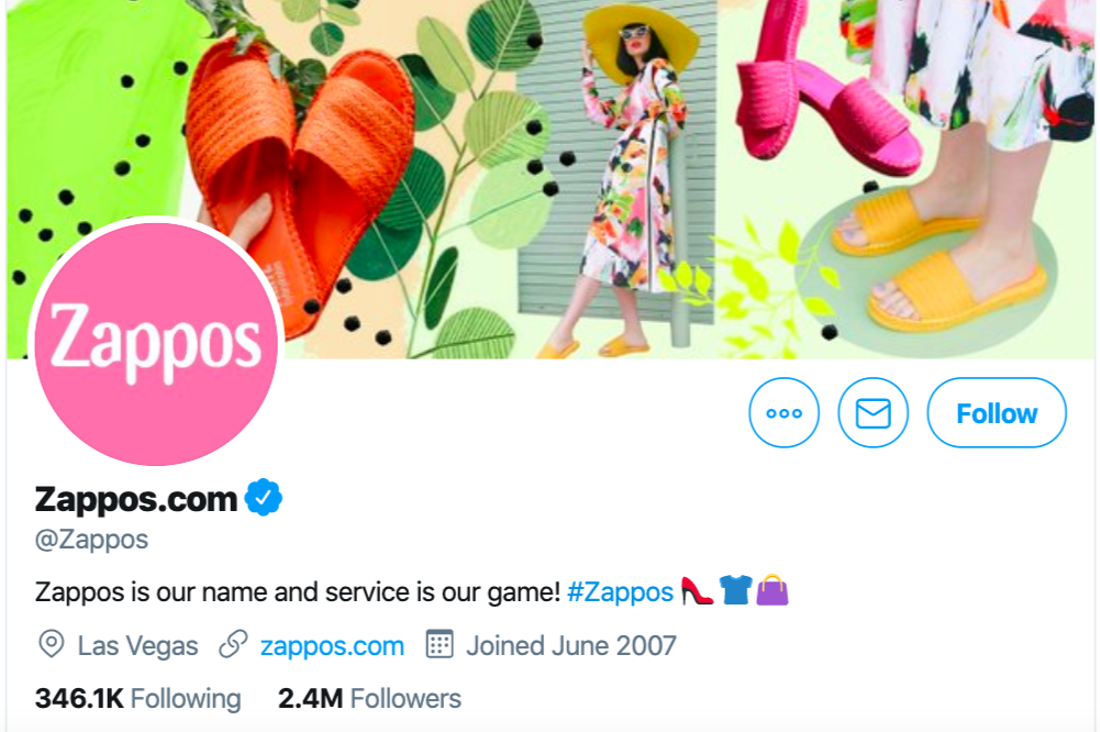 twitter ecommerce marketing example - Zappos