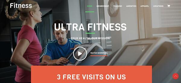 Fitness demo available with Ultra theme