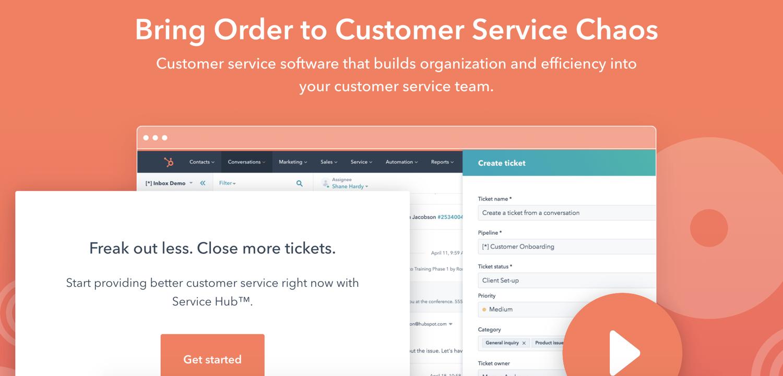 hubspot service hub customer experience management tool