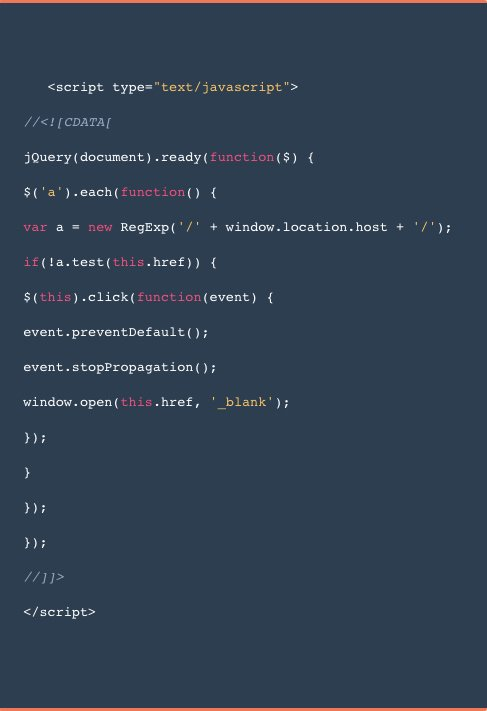 JavaScript code snippet example