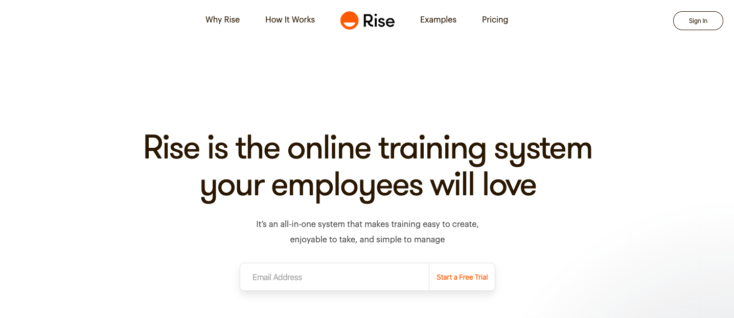 service rep training software rise
