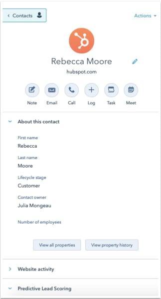 CRM process contact records