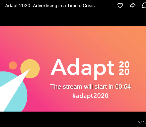 The stream for Adapt 2020's advertising discussion.