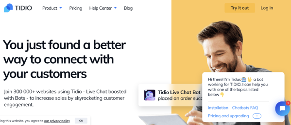 Tidio live chat software