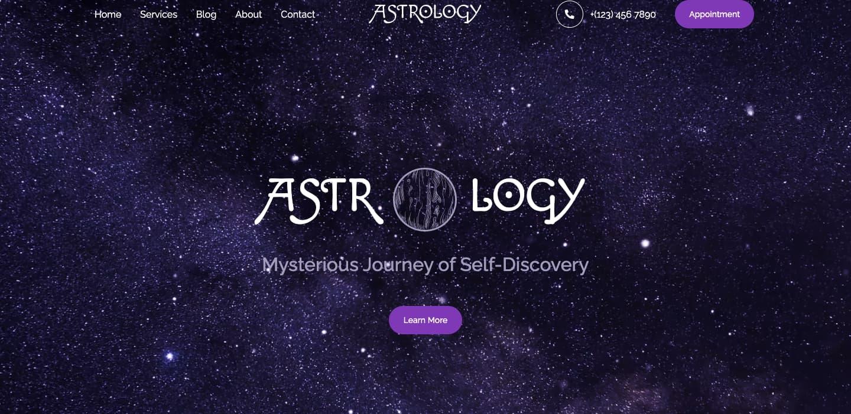 Astrology demo for Jupiter WordPress theme