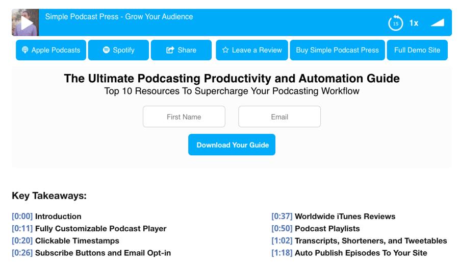 Player demo via Simple Podcast Press