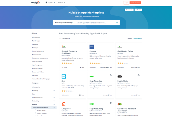HubSpot App Marketplace showing the different cpq integrations