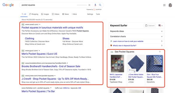 انواع تبلیغات جستجوی تبلیغات گوگل
