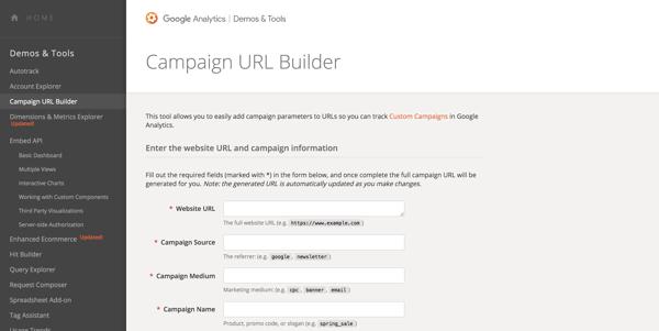 google ads کدهای utm را تنظیم می کند google campaign url builder