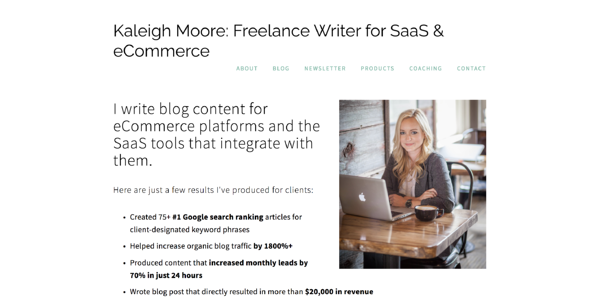 kaleigh moore freelance writer email marketing