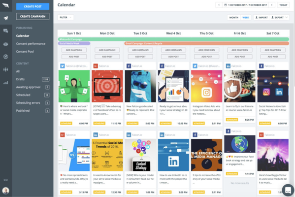 falcon.io social media management and tracking software