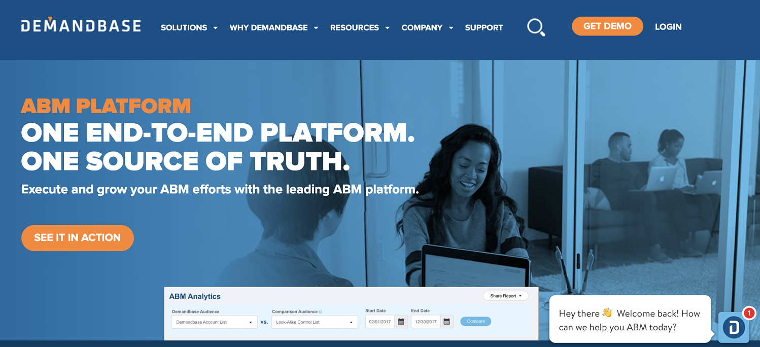 demandbase acount based marketing platform