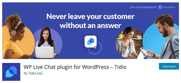 tidio wordpress live chat plugin