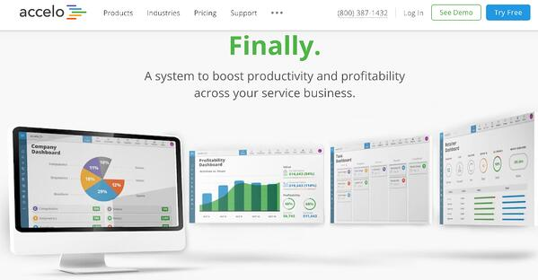 accelo crm software