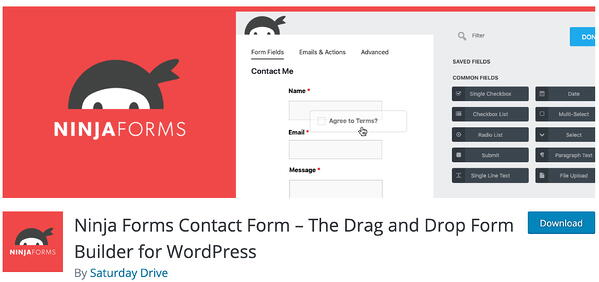 ninja forms lead generation wordpress plugin