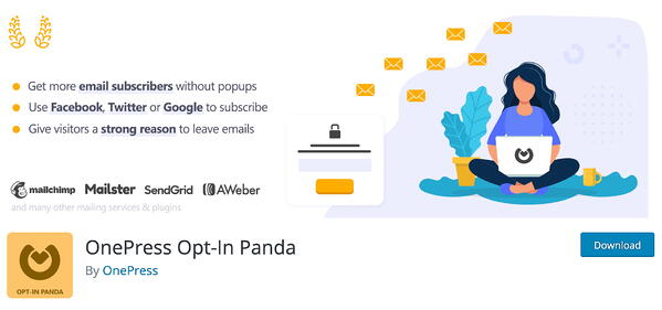 OnePress Opt-In Panda Lead Generation WordPress Plugin