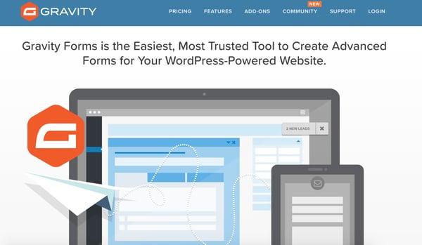 Gravity forms the WordPress lead generation plugin