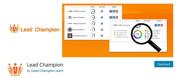 lead chamption lead generation wordpress plugin