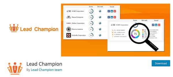 Lead Chamption Lead Generation WordPress Plugin