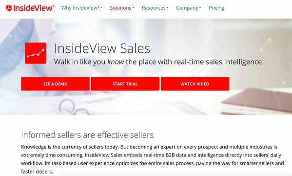 insideview sales tool for sales intelligence