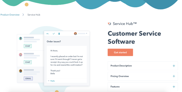 hubspot service software customer experience and service management tool
