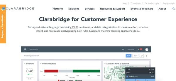 clarabridge customer intelligence platform