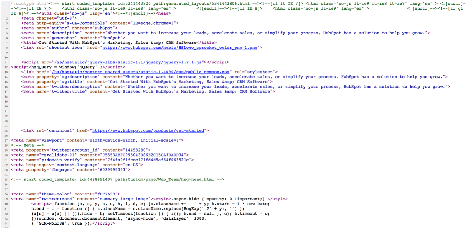 html-code-of-website