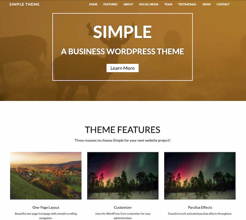 Simple Lite minimalist WordPress theme