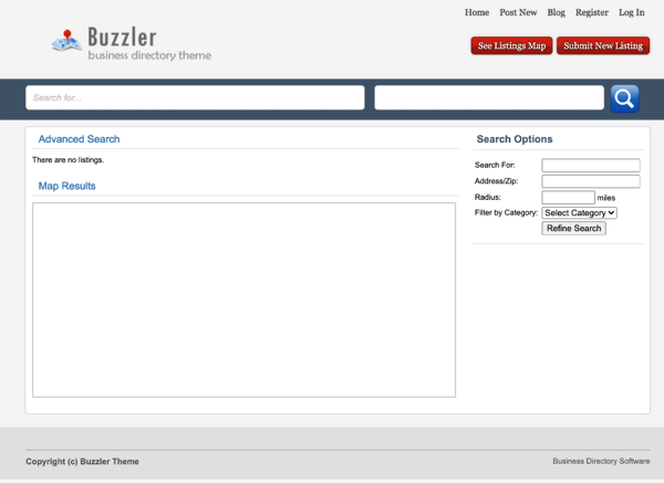 buzler basic advanced search overview page demo