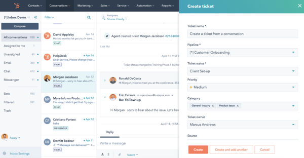 hubspot ticket software customer service dashboard