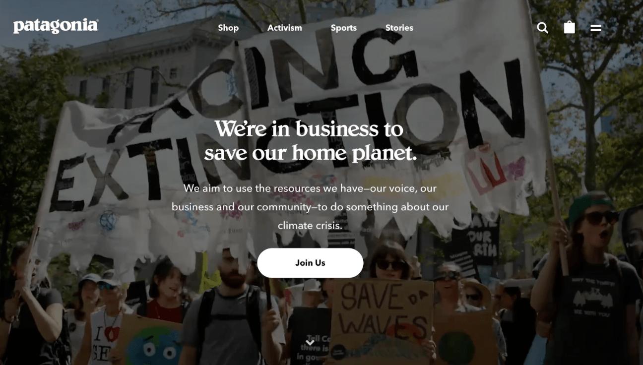 patagonia homepage