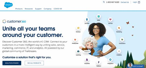 salesforce crm example