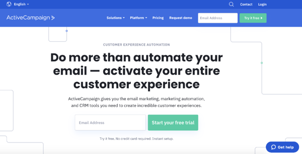 active campaign crm example