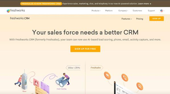 freshworks crm example