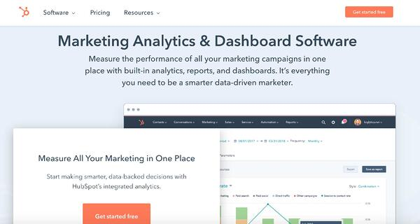 content marketing analytics tool example HubSpot Marketing Analytics and Dashboard Software