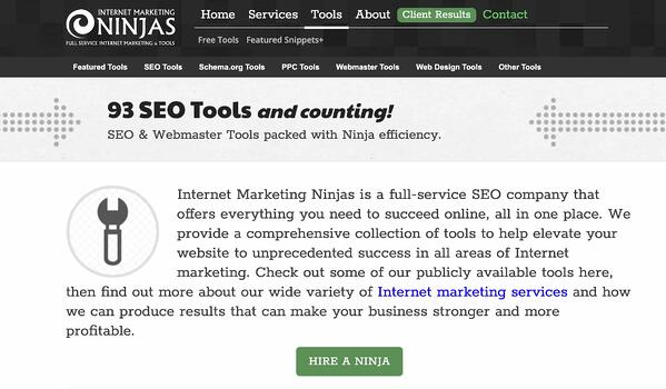 Internet Marketing Ninjas free seo tools