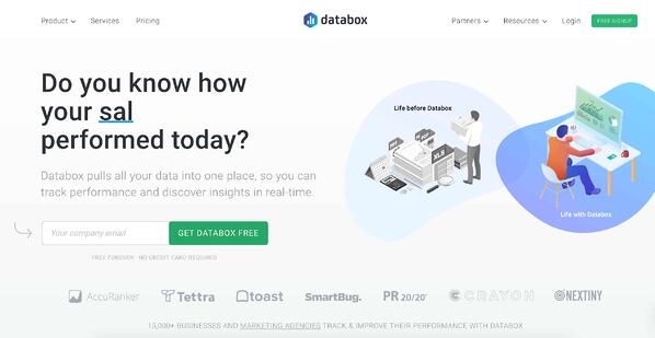 Business Intelligence & Data Reporting Tools example databox